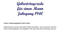 Geburtstagsrede für den Jahrgang 1940 (männlich)