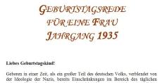 Geburtstagsrede für den Jahrgang 1935 (weiblich)