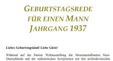 Geburtstagsrede für den Jahrgang 1937 (männlich)