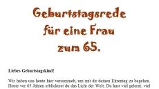 Geburtstagsrede Zum 65 Geburtstag Für Eine Gute Freundin Oder Nahe