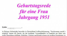 Geburtstagsrede Jahrgang 1951 weiblich
