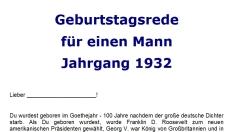 Geburtstagsrede fuer einen Mann Jahrgang 1932