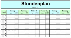 Praxiserprobte Excel Vorlage für alles was Schüler und Eltern für