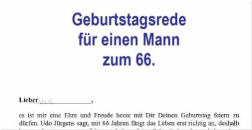 Geburtstagsrede Zum 66 Geburtstag Für Einen Guten