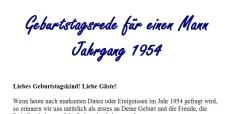 Geburtstagsrede für den Jahrgang 1954 (männlich)
