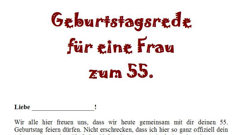Geburtstagsrede Zum 55 Geburtstag Für Eine Gute Freundin Oder Nahe