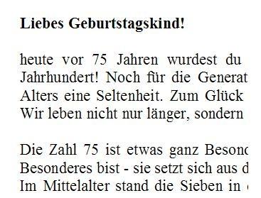 Geburtstagsgrusse Zum 75 Glckwnsche Bellanorasatcy Net