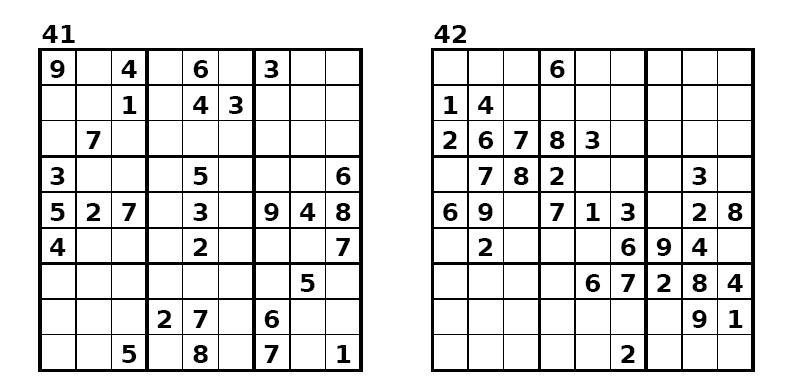 Sudoku - 6400 Rätsel-Vorlagen