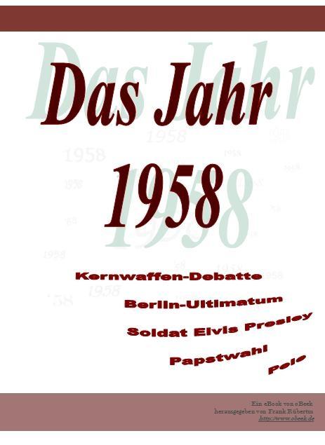 Das Jahr 1958