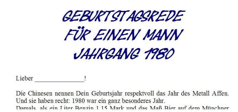Geburtstagsrede für den Jahrgang 1980 männlich