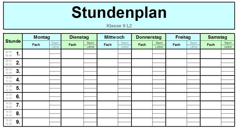 Schulorganizer Excel