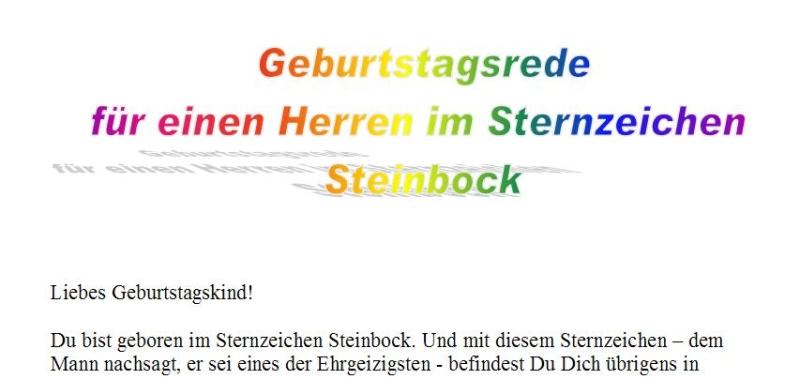 Steinbock mann single