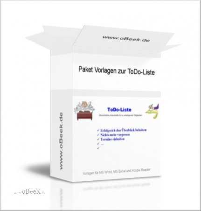 Paket Vorlagen zur Todo-Liste