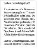 Geburtstagsrede für Herren mit Sternzeichen Wassermann